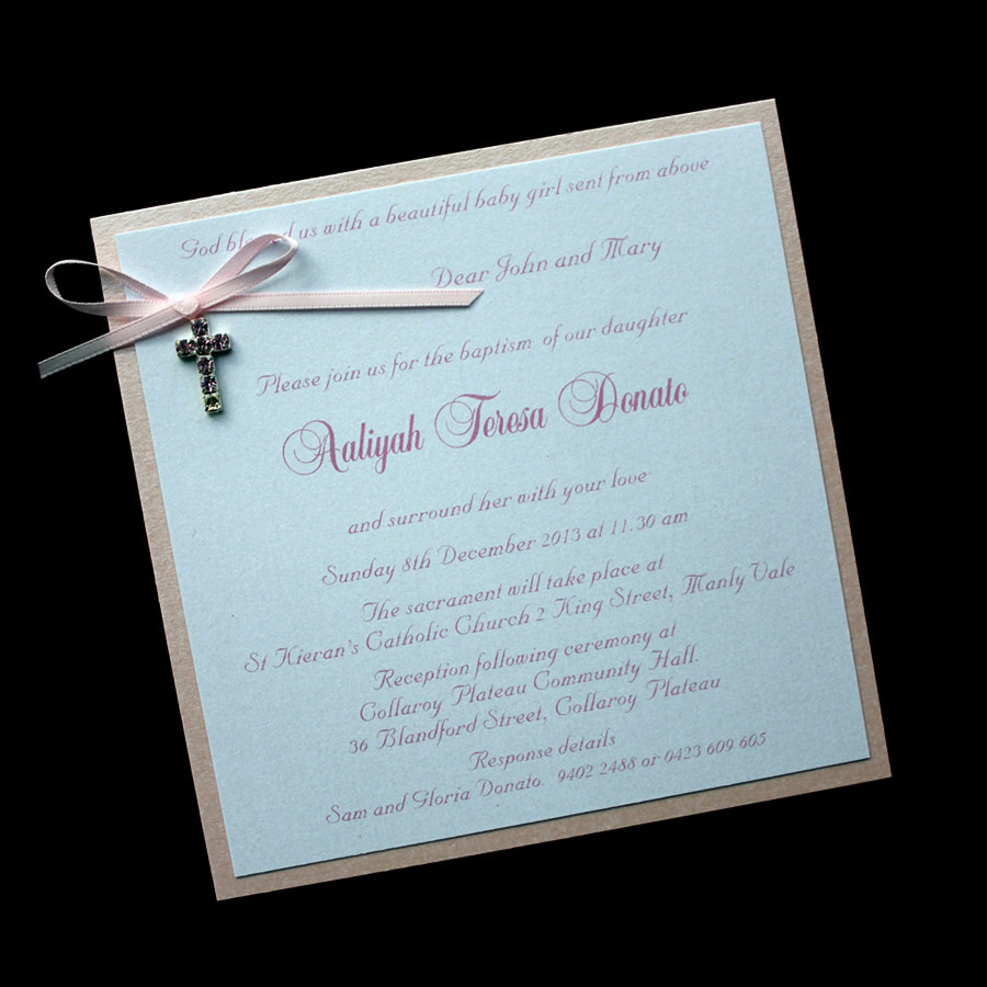 christening invitation for girls - Homemade Wedding Invitations