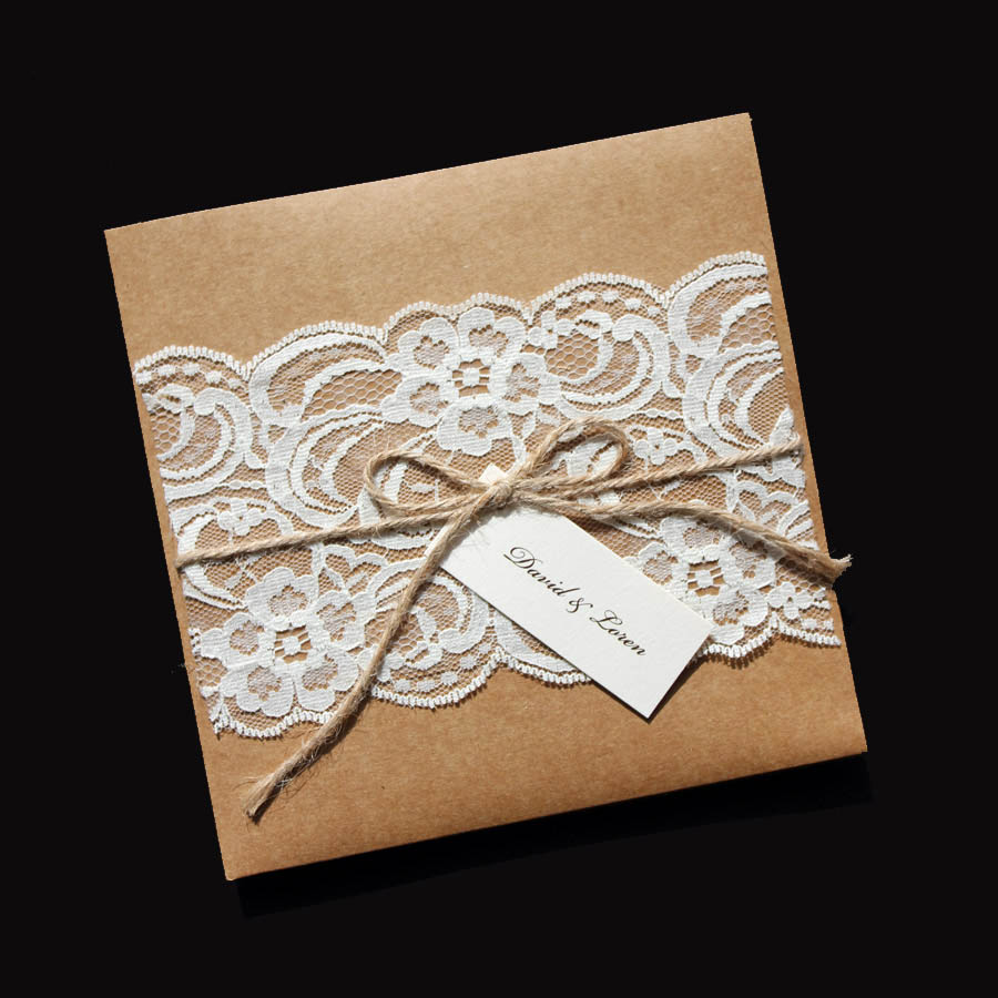 Rustic Vintage Style Wedding Invitations Astijano Handmade